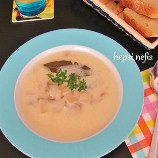 Kremalı mantar çorbası yapılışı
