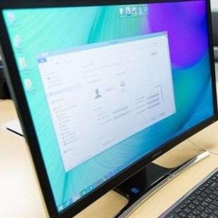 İlk Kıvrımlı Ekranlı Bilgisayar!
