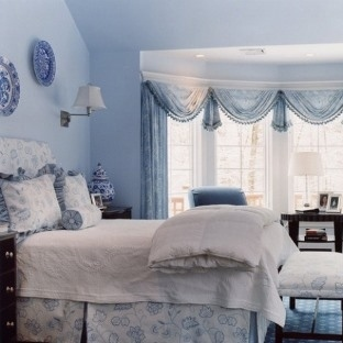 Mavi ve Beyaz Yatak Odası Tasarımları