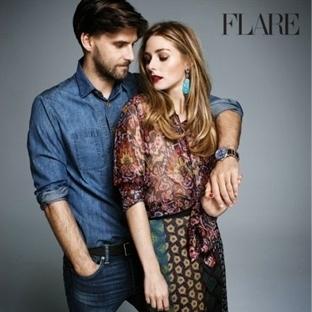 Olivia Palermo & Johannes Huebl Flare Dergisi Çeki