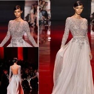 Transparan Detaylı Abiye Elbise Modelleri