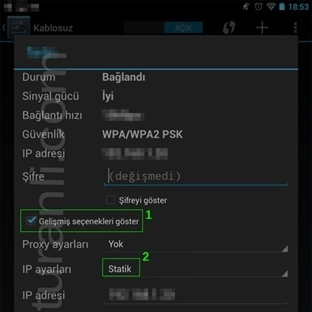 Android Cihazlarda DNS Ayarları nasıl degişir?