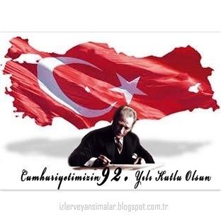 Cumhuriyetin 92. Yılı Kutlu Olsun!