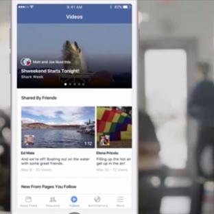 Facebook Video Sekmesini Teste Başladı