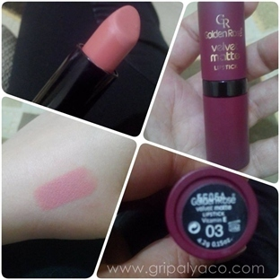 Golden Rose Velvet Matte Ruj 03