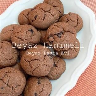 Kakaolu, damla çikolatalı kurabiye