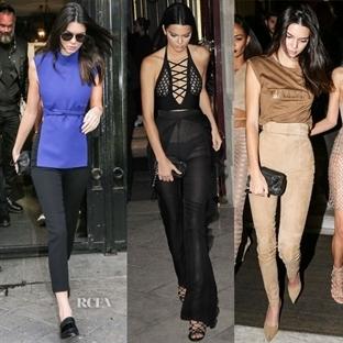 Kendall Jenner, şık stili ile trend yaratıyor
