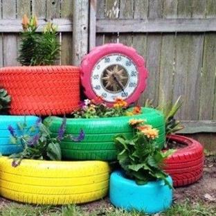 Kullanılmayan Malzemelerden Bahçe Dekorasyonu