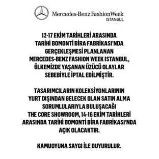 MBFW İstanbul İptal Edildi