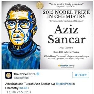 Nobel Alan İlk Türk Bilim Adamı Aziz Sancar Oldu