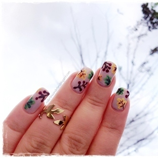 Sonbahar Yaprakları Nail Art Nasıl Yapılır?