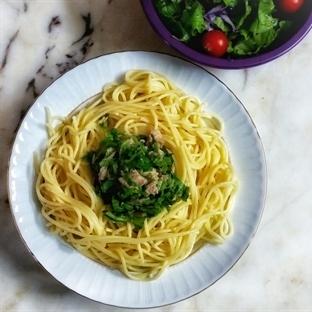 Ton Balıklı Rokalı Spaghetti