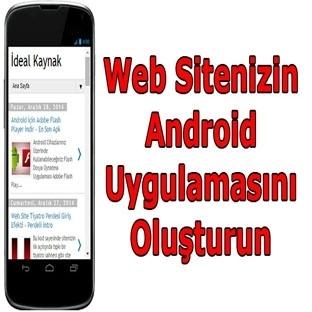 Web Sitenizin Ücretsiz Android Uygulamasını Yapın