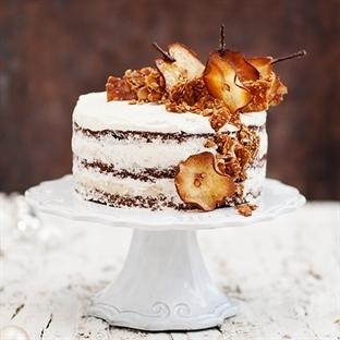 Beschwipste Birnen Kokos Torte