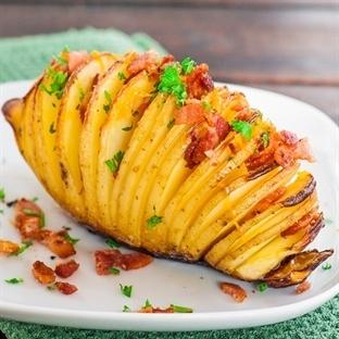 Cheddar Peynirli Yaprak Patates Tarifi