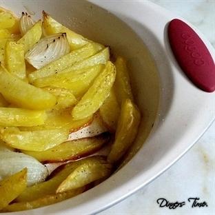 Fırında Kızarmış Patates Dilimleri