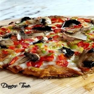 Yufka Ekmekten Pizza