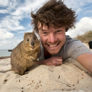 Bu Adam Hayvanlarla Selfie Çekme Ustası
