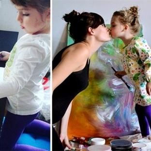 Çocuğunun Çizdiği Şekilleri Dönüştüren Anne