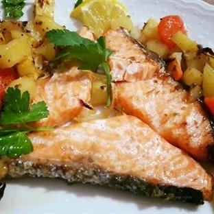 Fırında Somon Balığı - Kokusuz Balık Keyfi