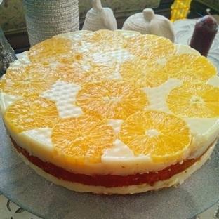 Kremalı Portakallı Soğuk Pasta
