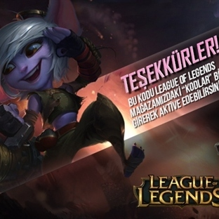 League Of Legends Ücretsiz Skin Kodu