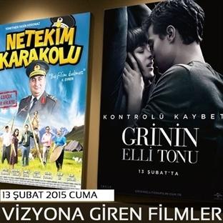 13 Şubat 2015 Cuma Vizyona Giren Filmler