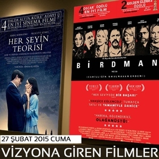 27 Şubat 2015 Cuma Vizyona Giren Filmler