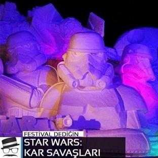 3500 ton kar kullanılarak yaptıklan Star Wars heyk