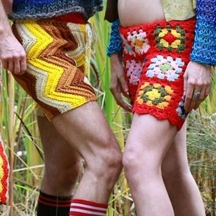 Erkekler İçin Yeni Moda: Tığ İşi Şortlar