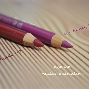 Essence Dudak Kalemleri Red Blush ve Honey Berry