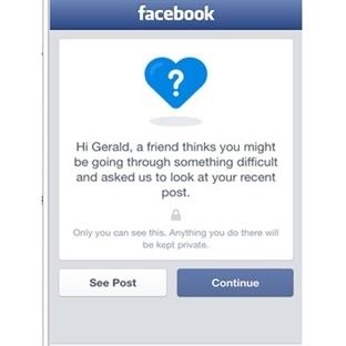 Facebook ile İntiharı Önleme Tuşu Geliyor