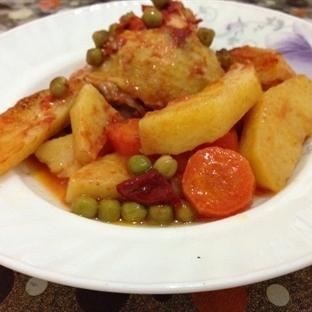 Fırında Sebzeli Tavuk