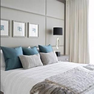 Gri renk Yatak Odası Dekorasyonu