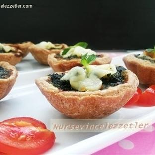 Muffin Kalıbında Ispanaklı Kiş