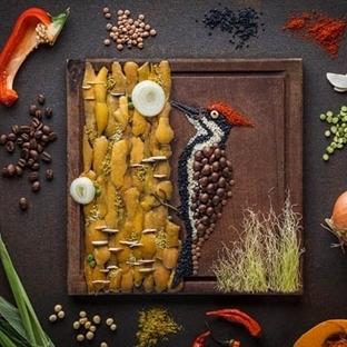 Mutfaktaki Malzemelerle Tabağa Yapılan Sanat