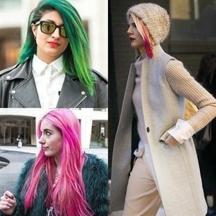 New York Sokaklarında Rengarenk Saç Modası!