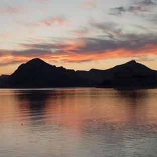 Pertek'de günbatımı