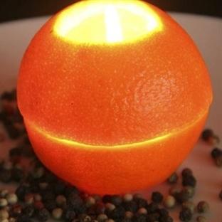 Portakal Kabuğu İle mumluk yapalım Mı?