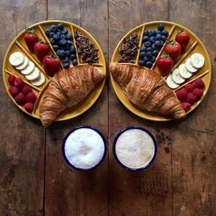 Simetrik kahvaltı: hem göze hem mideye