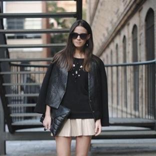 Siyah Deri Ceket Stili