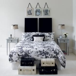 Siyah yatak odası dekorasyon örnekleri