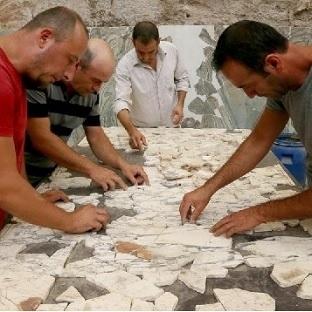 Tam 120.000 parçalı mermerden puzzle!
