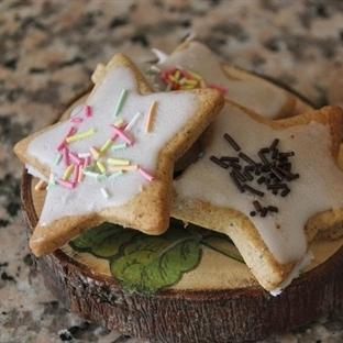 Zencefilli yıldız kurabiye
