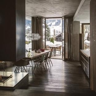 Avusturya'da bir dağ evi dekorasyonu