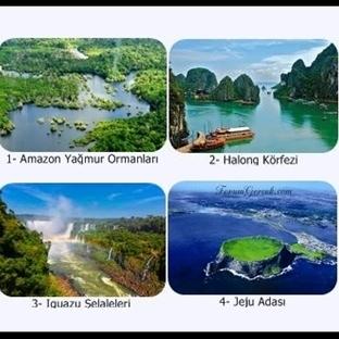 Dünyanın 7 Doğa Harikası