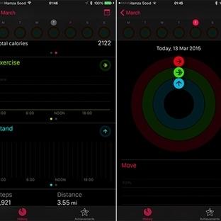 iOS 8.2'de Gizli Apple Watch Etkinlik Uygulaması
