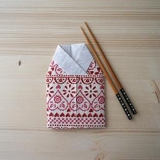 Kimono Şeklinde Peçete Katlama