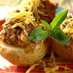 Kıymalı Mantarlı Fırın Patates Tarifi