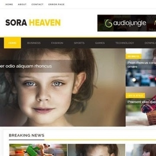Sora Heaven Blogger Teması
